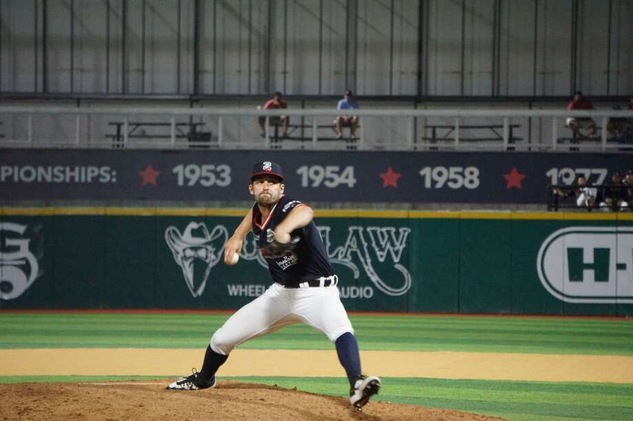 Tecolotes Dos Laredos pitcher Paul Voelker Photo: Courtesy Of TheTecolotes Dos Laredos
