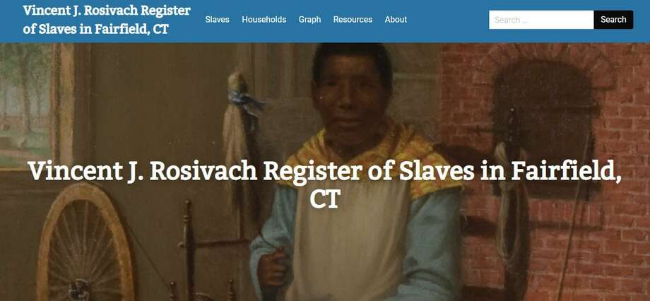 The Vincent J. Rosivach Register of Slaves in Fairfield looks at the history of nearly 900 slaves through primary source documents and archives. Photo: Humberto J. Rocha / Hearst Connecticut Media / New Canaan News