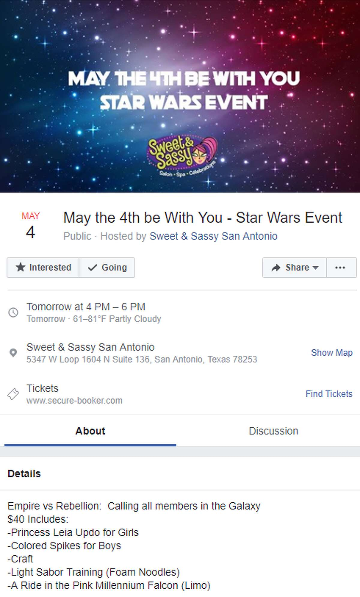 Sweet & Sassy's $40 May the 4th Be With You Empire vs. Rebellion Package
