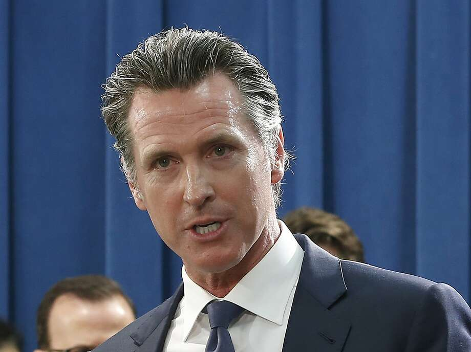 FILE — In this Monday April 29, 2019 photo, Gov. Gavin Newsom talks to reporters at the Capitol in Sacramento, Calif. Photo: Rich Pedroncelli / Associated Press