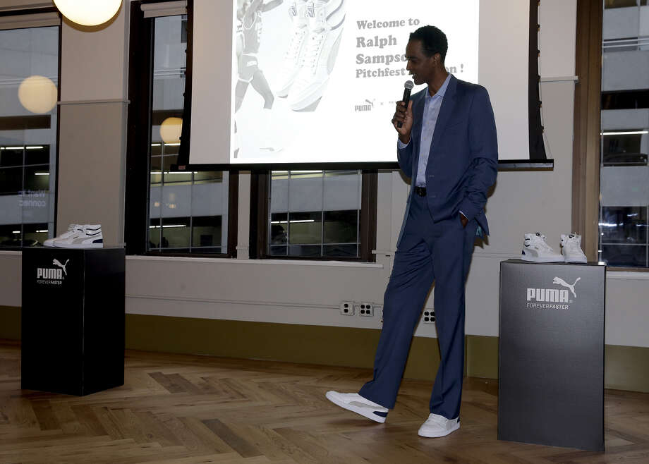 Basketball Hall of Famer and former Rockets star Ralph Sampson at a business pitch competition in Houston on Thursday, May 2, 2019. Sampson teamed up with sports apparel company Puma and sports tech venture capital firm SeventySix Capital for the Ralph Sampson Pitchfest competition. The event was open to for-profit and nonprofit organizations related to sports, technology and community. Photo: Bob Levey/Getty Images For PUMA