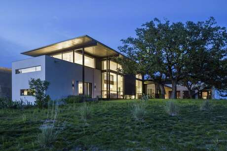 The Hill Country home of interior designer Sara Story, who grew up in Houston. Lake/Flato Architects in San Antonio designed the home.