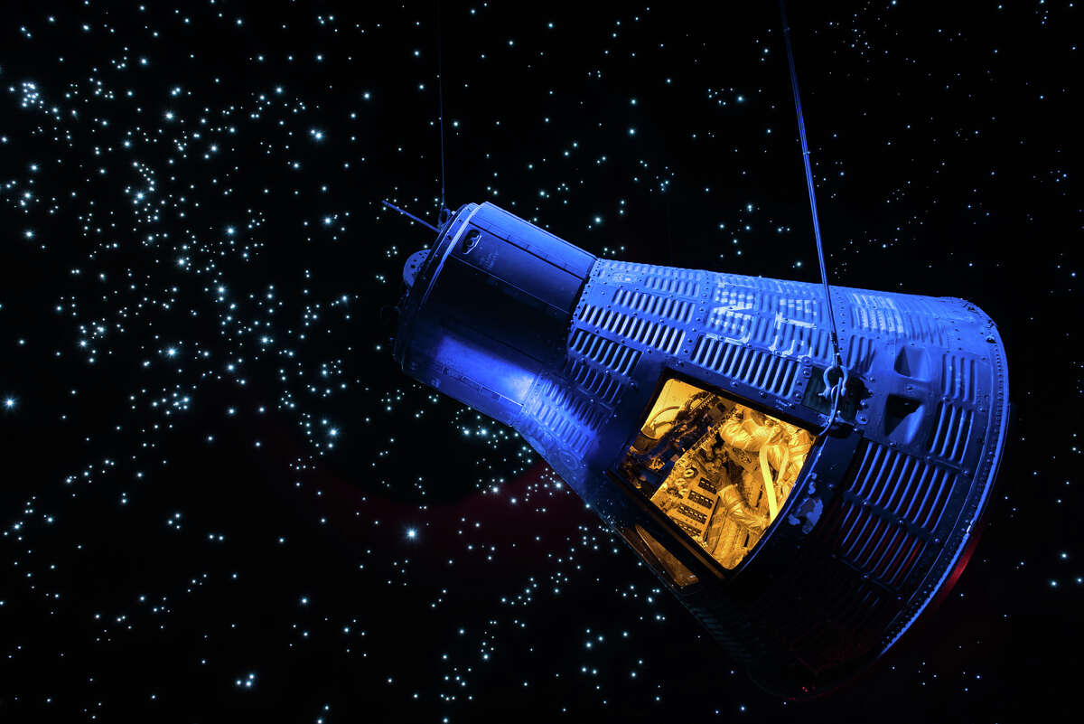 """Admire flown spacecraft like the Mercury """"Faith 7"""" capsule and learn about historic space missions and the exciting future of space exploration at Space Center Houston."""