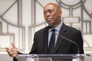 Mayor Sylvester Turner on Friday, May 3, 2019, said he still thinks Proposition B, which requires the city to pay firefighters the same as police, is bad.