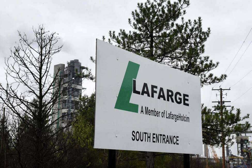 Exterior of the Lafarge cement plant on Friday, May 3, 2019, in Ravena , N.Y. (Will Waldron/Times Union)