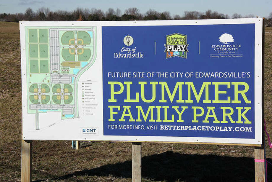 This February 2019 file photo shows Plummer Family Park, before construction began, located on the north side of Goshen Road, just west of Interstate 55.
