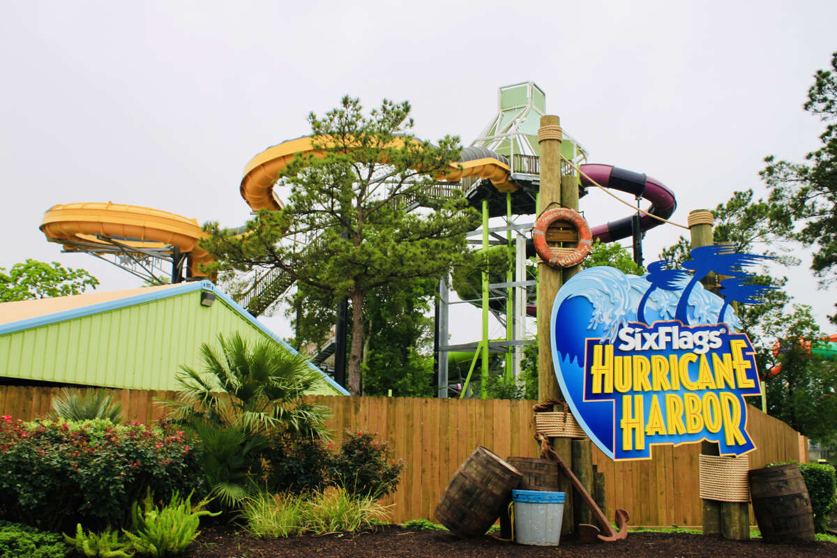 The newly renovated Six Flags Hurricane Harbor Splashtown has 40 slides and attractions.