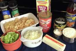 Ingredients to make Lender's Salmon Chowder