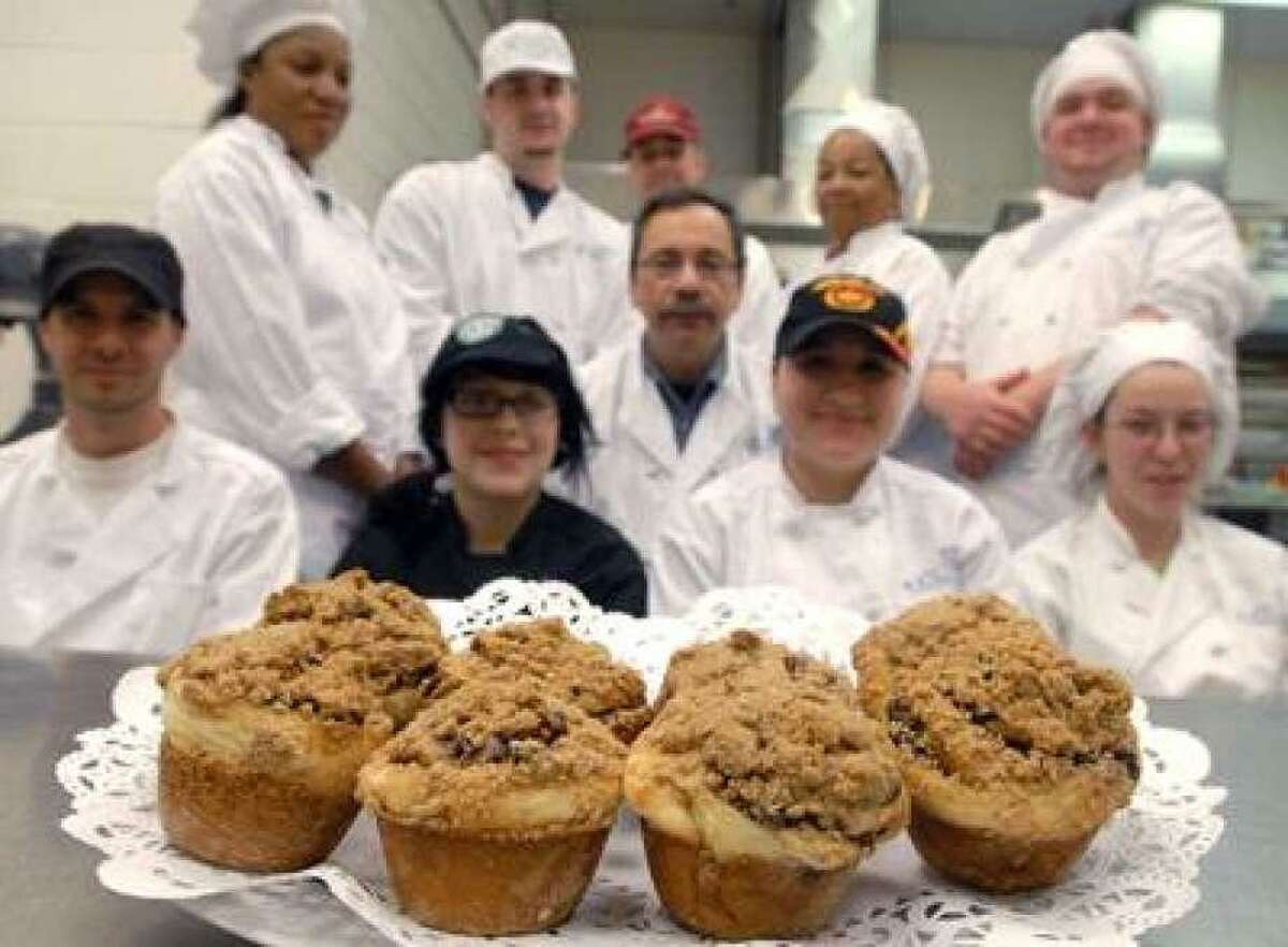 Chef Phil Weinberger's class learned how to make 3G's babka muffins at Gateway Community College in 2010.