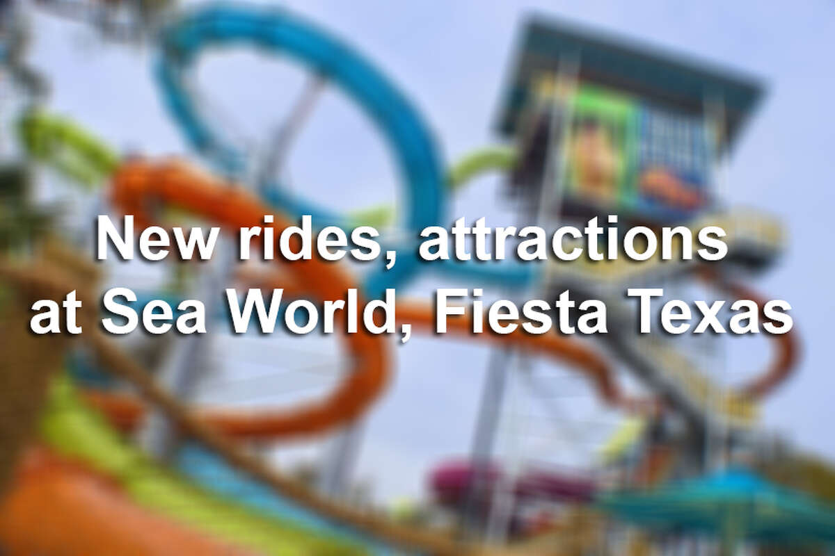 Click through the gallery above for new rides and attractions at Sea World San Antonio and Six Flags Fiesta Texas.