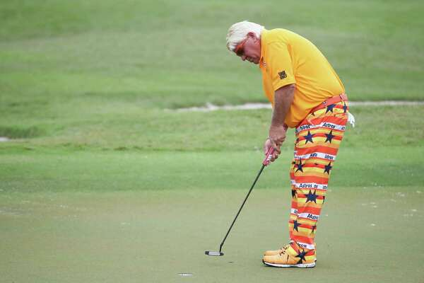 John Daly Wears Astros Pants In First Round Of Insperity