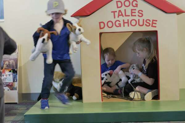 """DOGS: More Than Pets,"" a hands-on exhibit that immerses visitors in the incredible world of dogs, is at Stepping Stones Museum for Children, in Norwalk, through Sunday, July 7."