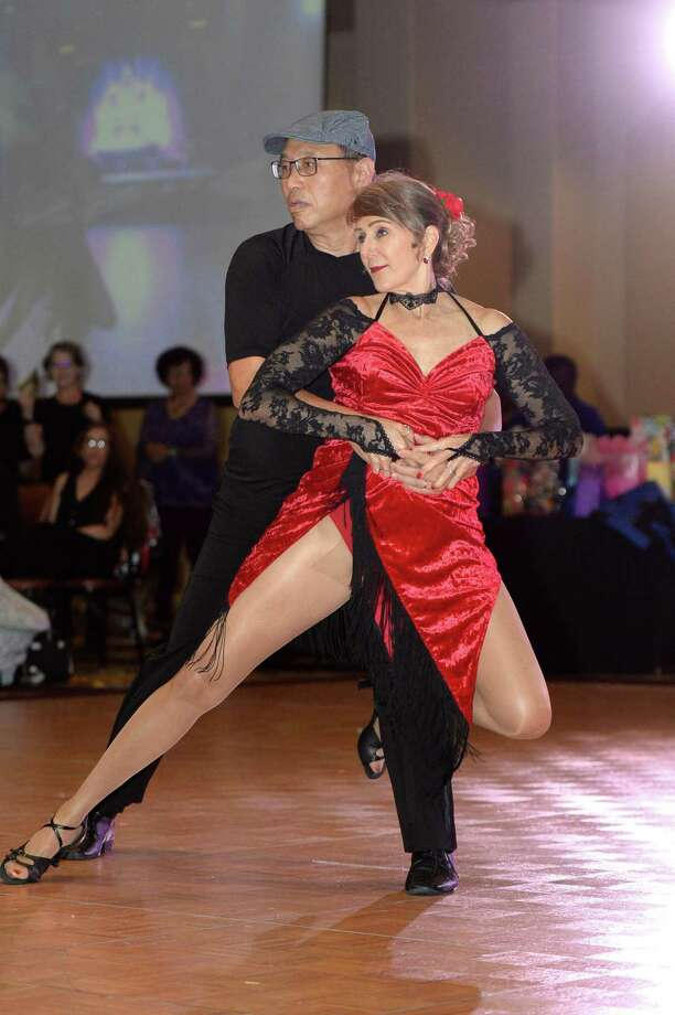 The Paso to Tango from Alief YMCA perform during the Dancing with the Silver Stars event at the Bayou City Event Center, Houston, TX on Thursday, May 2, 2019. Photo: Craig Moseley, Houston Chronicle / Staff Photographer / ©2019 Houston Chronicle