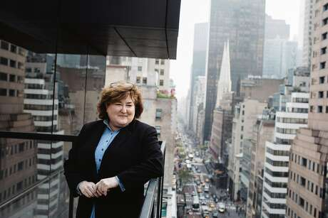 Erika Karp, chief executive of Cornerstone Capital, in New York on May 2, 2019. Cornerstone created the Access Impact Framework, a heat map that shows how her clients' money measures up to their goals. (Celeste Sloman/The New York Times)
