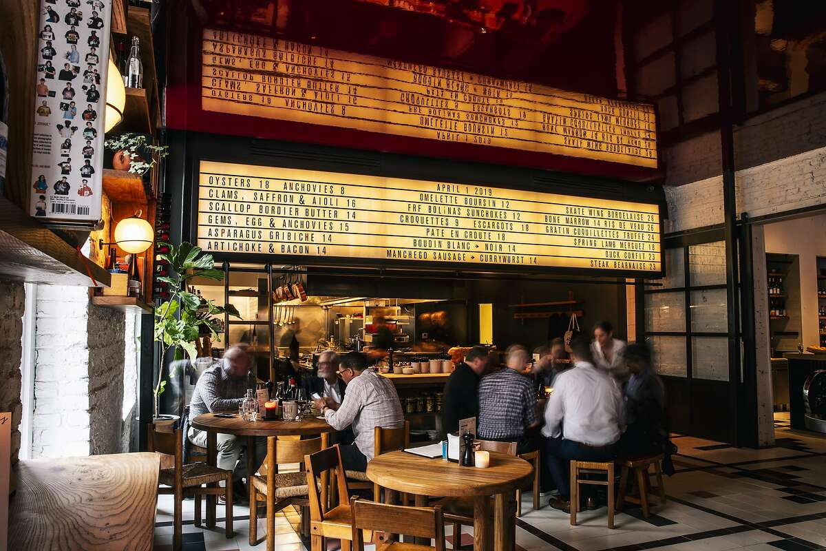 An interior view of Verjus in San Francisco, Calif. on Monday, April 1, 2019.