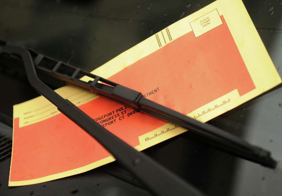 A parking tickets on Anson Street in the vicinity of St. Vincent's Medical Center in Bridgeport on Thursday, March 7, 2013.