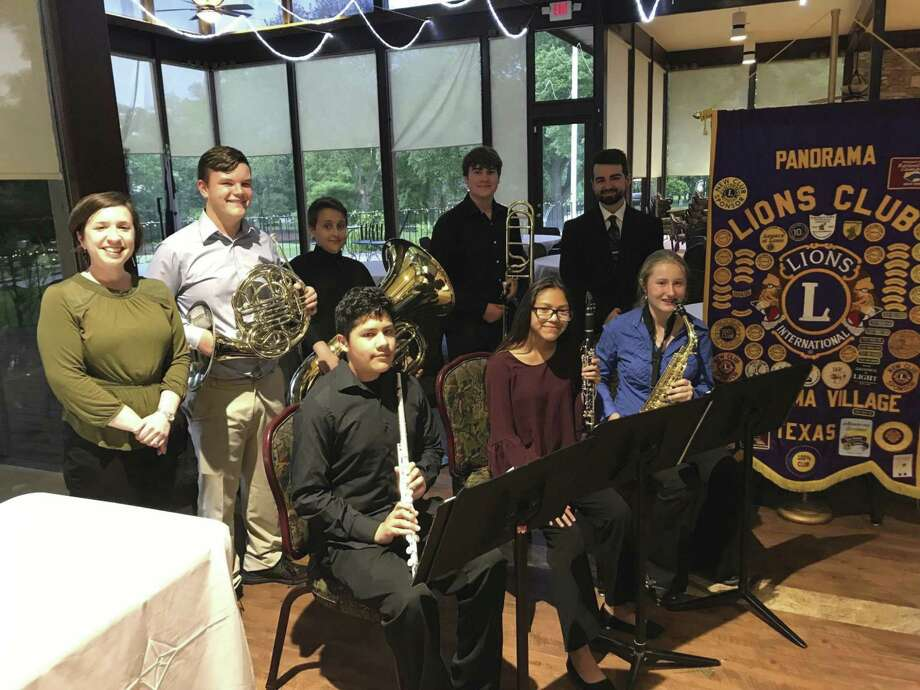 An ensemble group representing the Lynn Lucas Middle School band gave a mini-concert at the Panorama Lions April 24 meeting to thank us for helping underwrite their trip to the Music For All National Festival in Indianapolis last month.
