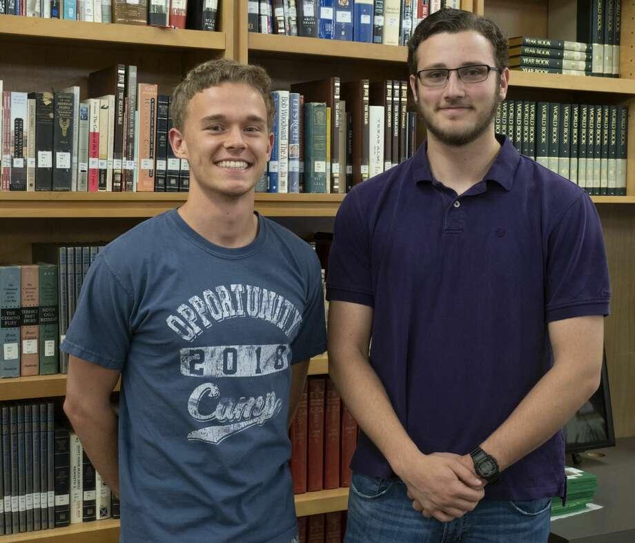 Midland Classical Academy top seniors, Conrey Echols and Jon Michael Markgraf. 05/03/19  Tim Fischer/Reporter-Telegram Photo: Tim Fischer/Midland Reporter-Telegram