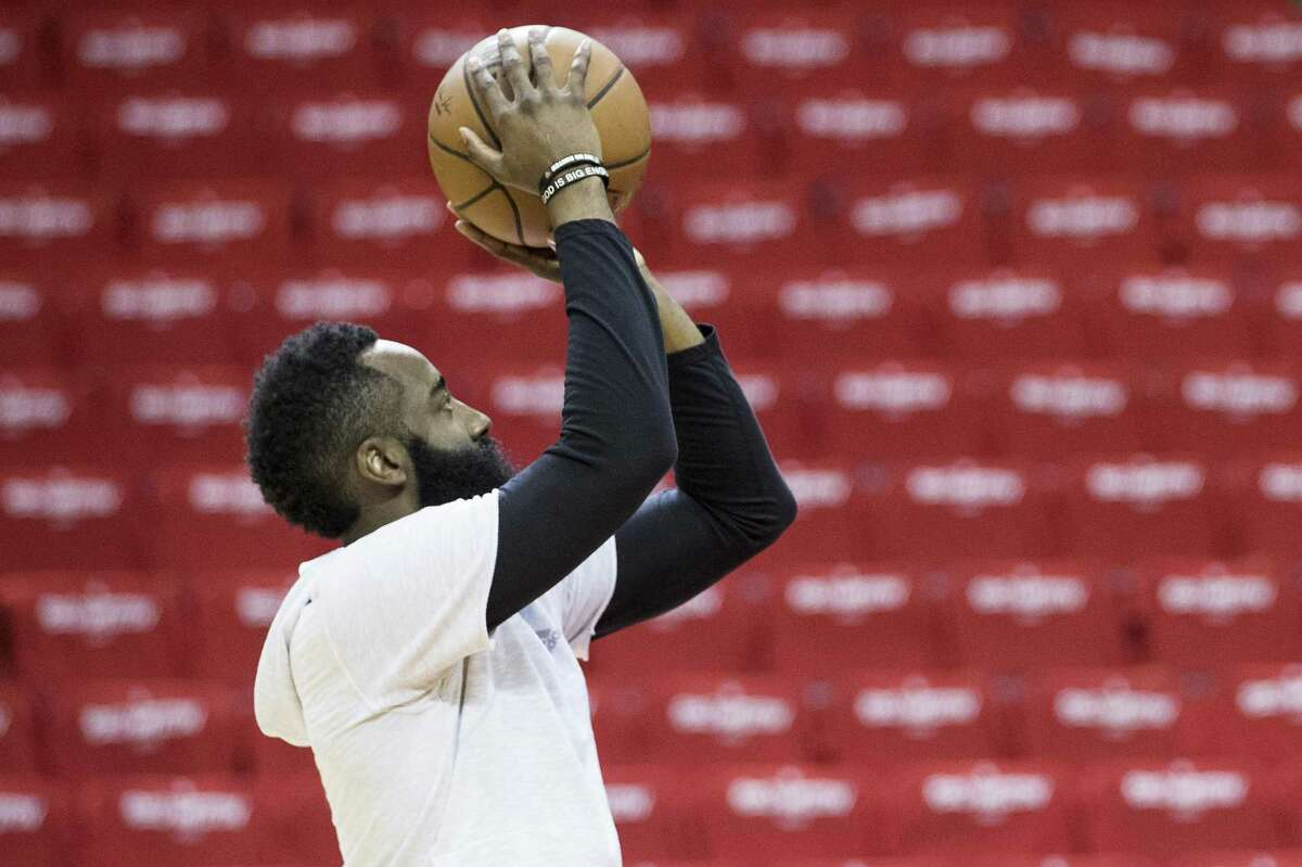 The Rockets are working with the NBA to determine the steps needed to clear James Harden to join the team.