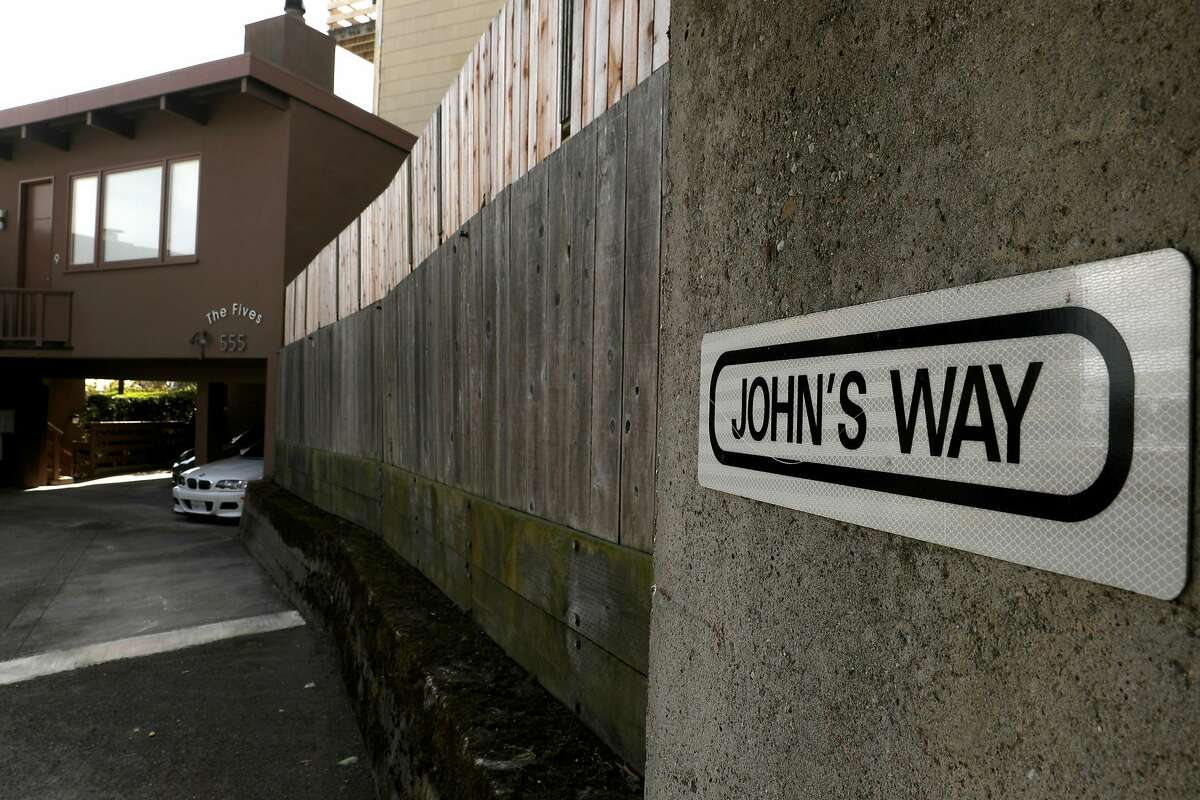 A John's Way sign seen on Tuesday, April 30, 2019 in San Francisco, Calif.