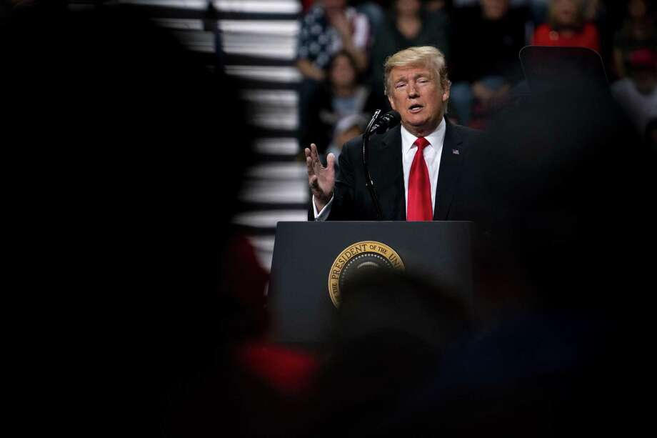President Donald Trump speaks at a rally in Green Bay, Wis., April 27. Trump says he will resist all congressional subpoenas. Photo: ERIN SCHAFF /NYT / NYTNS