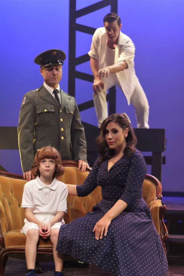 "Seven Angels Theatre's production of The Who's ""Tommy"" continues through May 19. The cast members include (seated) RJ Vercellone, seated with Jillian Jarrett; and Ryan Bauer-Walsh and Garrison Carpenter, standing. Photo: Seven Angels Theatre / Contributed Photo /"