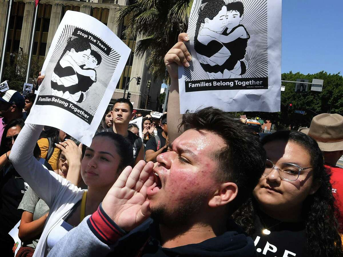 A crowd in Los Angeles protests forced family separations on the border. The cruel policy galvanized Americans.