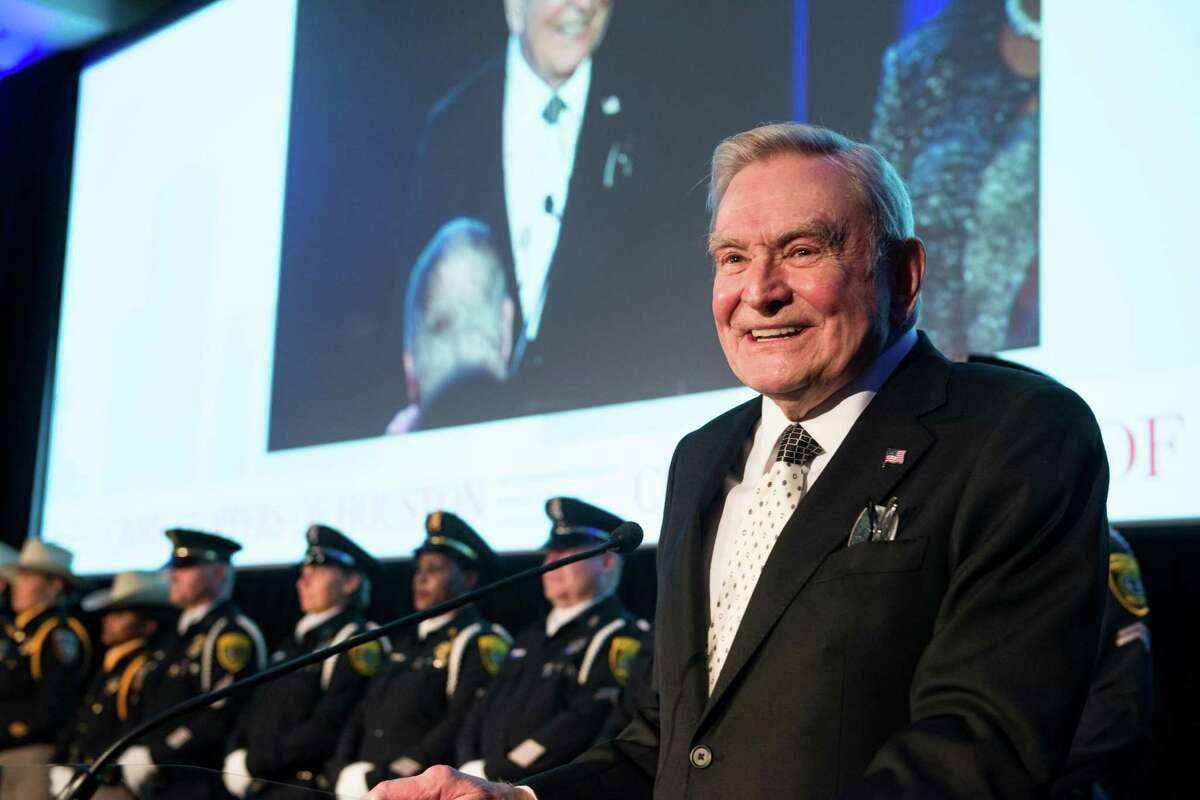Veteran Houston newscaster Dave Ward was honored at the 2015 Crime Stoppers Gala on Thursday, Oct. 29.