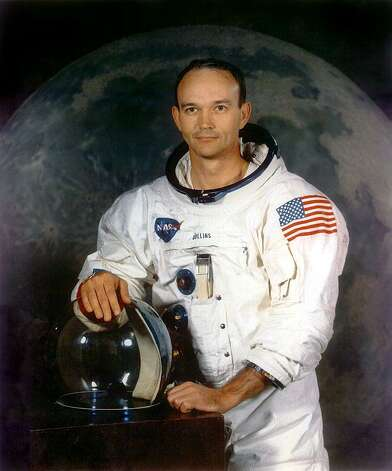 A handout portrait taken in July 1969 shows astronaut Michael Collins, command module pilot of the Apollo 11 moon landing mission. Collins orbited the moon while Neil Armstrong and Buzz Aldrin walked on the lunar surface for the first time. Photo: NASA