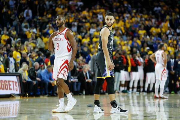 96caaa25ba96 1of4The Rockets  Chris Paul (left) has been eclipsed by old friend Stephen  Curry in the NBA s point guard hierarchy.Photo  Scott Strazzante   The  Chronicle