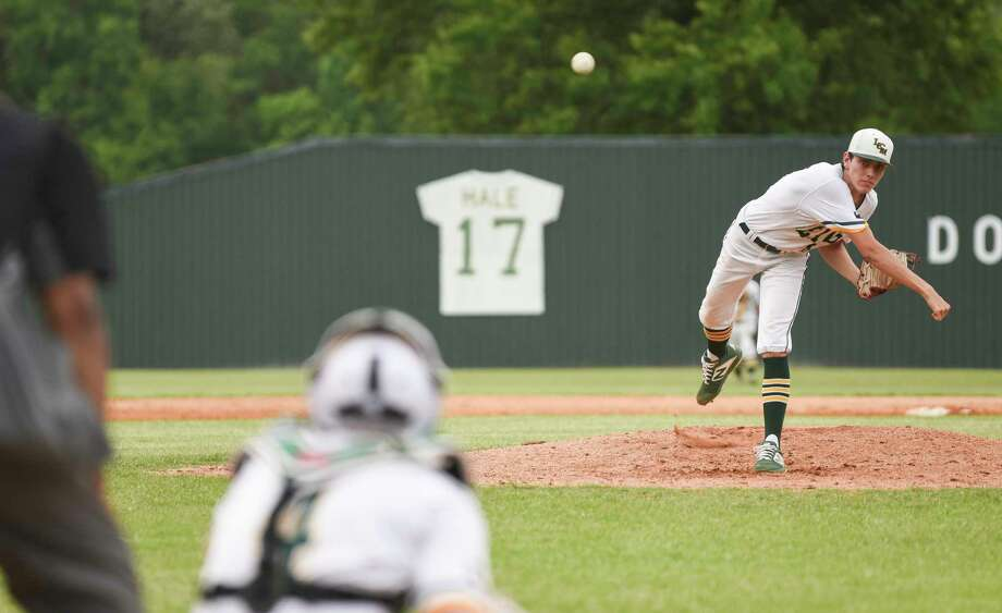 Little Cypress-Mauriceville's Thayne Toomey pitches during the game at against Liberty at Little Cypress-Mauriceville Friday afternoon. Photo taken on Friday, 05/03/19. Ryan Welch/The Enterprise Photo: Ryan Welch, The Enterprise / © 2019 Beaumont Enterprise