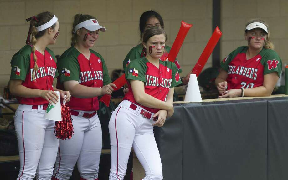 The Woodlands players are seen in the dugout in the sixth inning during Game 1 of Region II-6A area high school baseball playoff series at Oak Ridge High School, Friday, May 3, 2019, in Spring. Photo: Jason Fochtman, Houston Chronicle / Staff Photographer / © 2019 Houston Chronicle