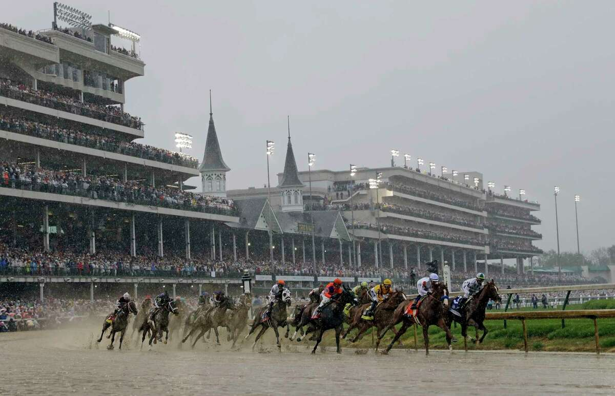 The coronavirus is forcing Churchill Downs to postpone this year's Kentucky Derby until Sept. 5. (AP Photo/Darron Cummings, File)