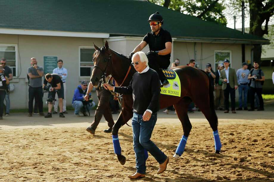 LOUISVILLE, KENTUCKY - MAY 02: Trainer Bob Baffert leads Game Winner to the track for morning workouts in preparation for the 145th running of the Kentucky Derby at Churchill Downs on May 2, 2019 in Louisville, Kentucky. (Photo by Michael Reaves/Getty Images) Photo: Michael Reaves / 2019 Getty Images