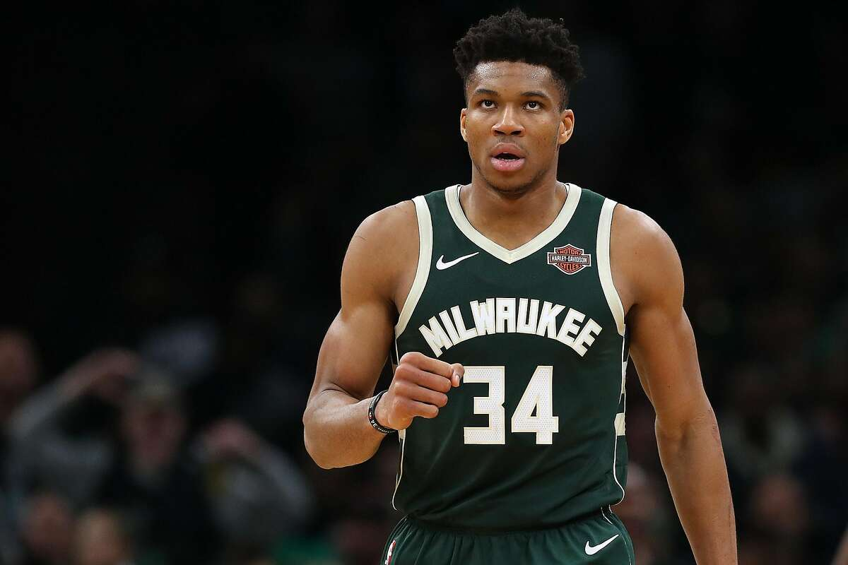 BOSTON, MASSACHUSETTS - MAY 03: Giannis Antetokounmpo #34 of the Milwaukee Bucks celebrates during the second half of Game 3 against the Boston Celtics during the Eastern Conference Semifinals of the 2019 NBA Playoffs at TD Garden on May 03, 2019 in Boston, Massachusetts. The Bucks defeat the Celtics 123 - 116. (Photo by Maddie Meyer/Getty Images)