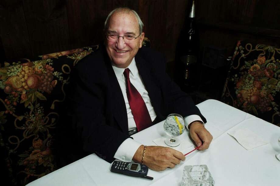 Former Bridgeport Mayor Nick Panuzio in a 2002 file photo. He served two terms as mayor, from 1971 until 1975, when he joined the administration of President Gerald Ford. He died Friday night at 83. Photo: Ned Gerard / Ned Gerard / Connecticut Post