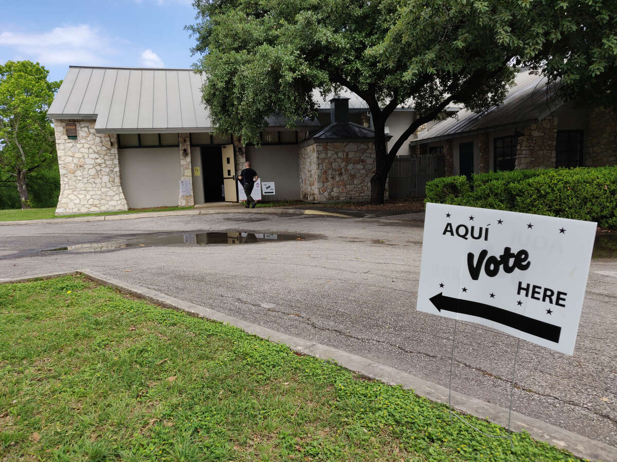 A voter walks into the Lions Field Adult and Senior Center to cast his ballot on Saturday, May 4, 2019.
