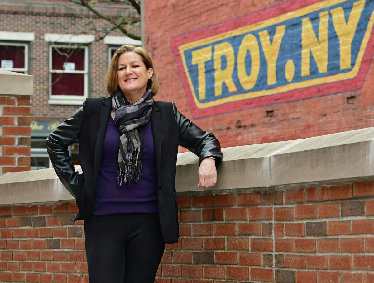Deanna Dal Pos, who moved from Saratoga Springs to Troy a couple of years ago, is seen on River St. on Thursday, May 2, 2019 in Troy, N.Y. (Lori Van Buren/Times Union)