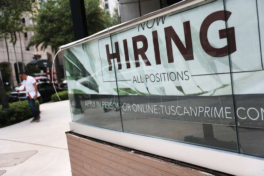 Companies continue to hire people at a pace above economists' forecasts, according to the Labor Department. Photo: Joe Raedle/Getty Images