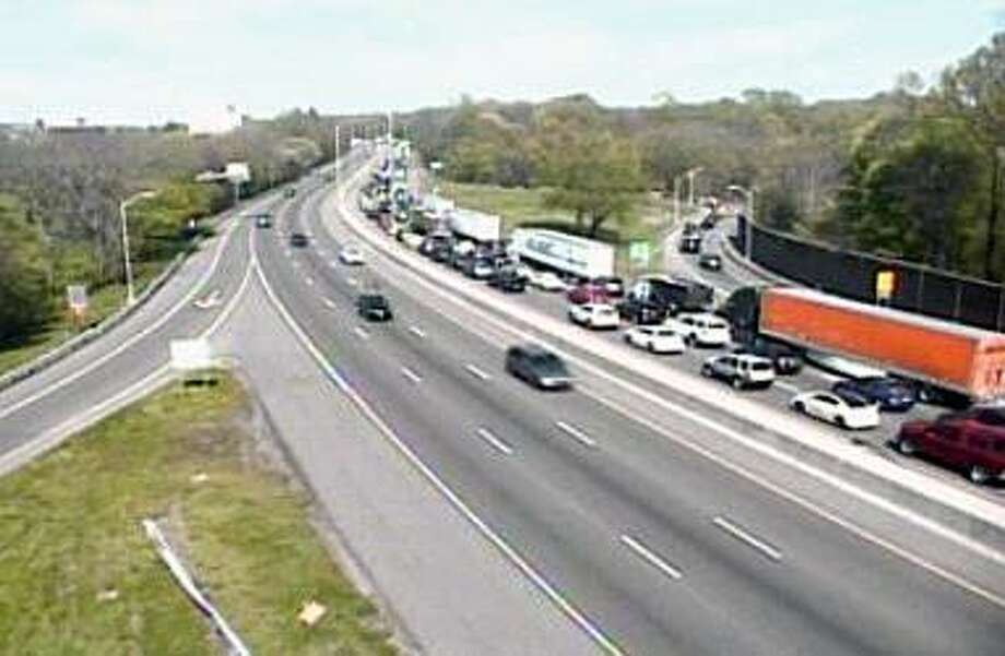 The DOT camera for I-95 SB Exit 13 - Rt. 1 (Boston Post Rd.) Photo: Contributed Photo