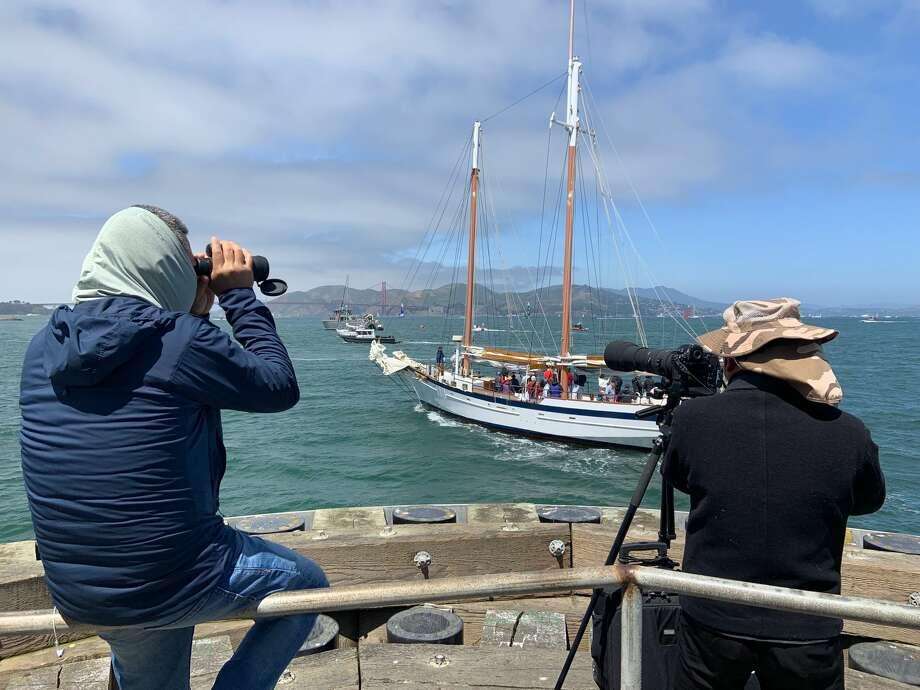 Speedy catamarans put on a show as sailing race makes US
