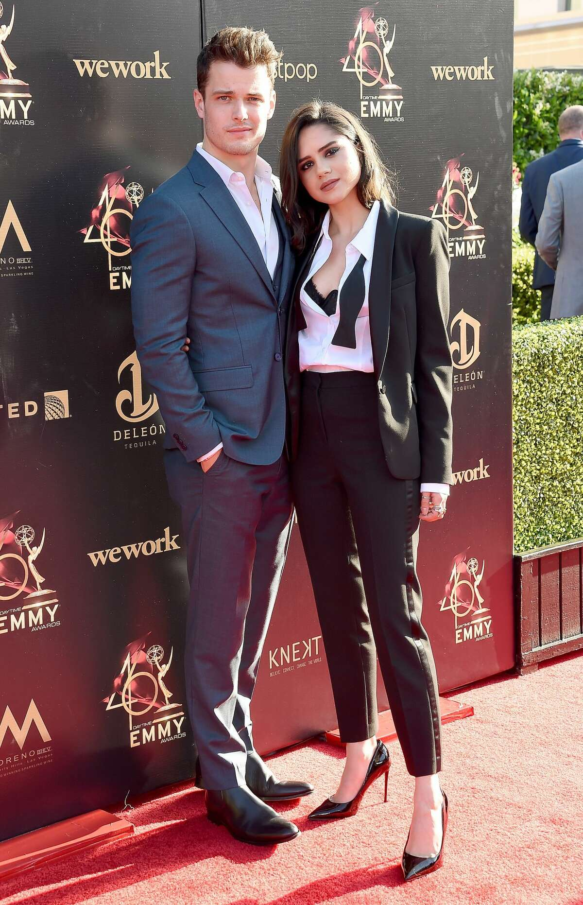 PASADENA, CA - MAY 03: Michael Mealor and Sasha Calle arrive at the 46th Annual Daytime Creative Arts Emmy Awards at Pasadena Civic Center on May 3, 2019 in Pasadena, California. (Photo by Gregg DeGuire/Getty Images)