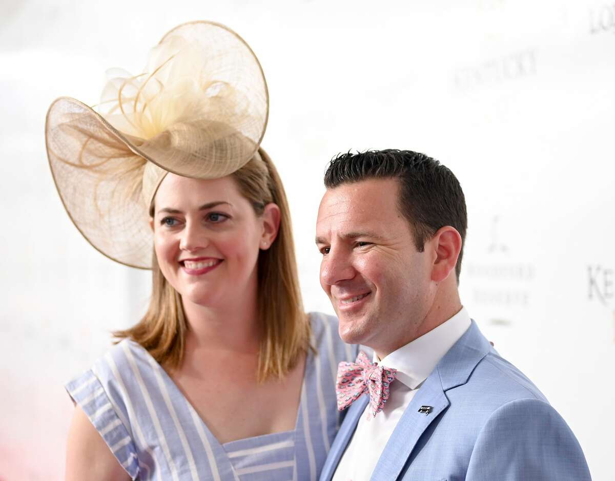 LOUISVILLE, KENTUCKY - MAY 04: Leah Rapoport and Ian Rapoport attend the 145th Kentucky Derby at Churchill Downs on May 04, 2019 in Louisville, Kentucky. (Photo by Jason Kempin/Getty Images for Churchill Downs)