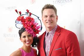 LOUISVILLE, KENTUCKY - MAY 04: Joey Wagner (R) attends the 145th Kentucky Derby at Churchill Downs on May 04, 2019 in Louisville, Kentucky. (Photo by Jason Kempin/Getty Images for Churchill Downs)