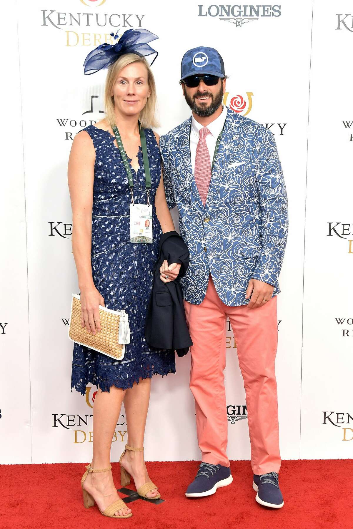 LOUISVILLE, KENTUCKY - MAY 04: Ian Murray (R) and guest attend the 145th Kentucky Derby at Churchill Downs on May 04, 2019 in Louisville, Kentucky. (Photo by Michael Loccisano/Getty Images for Churchill Downs)