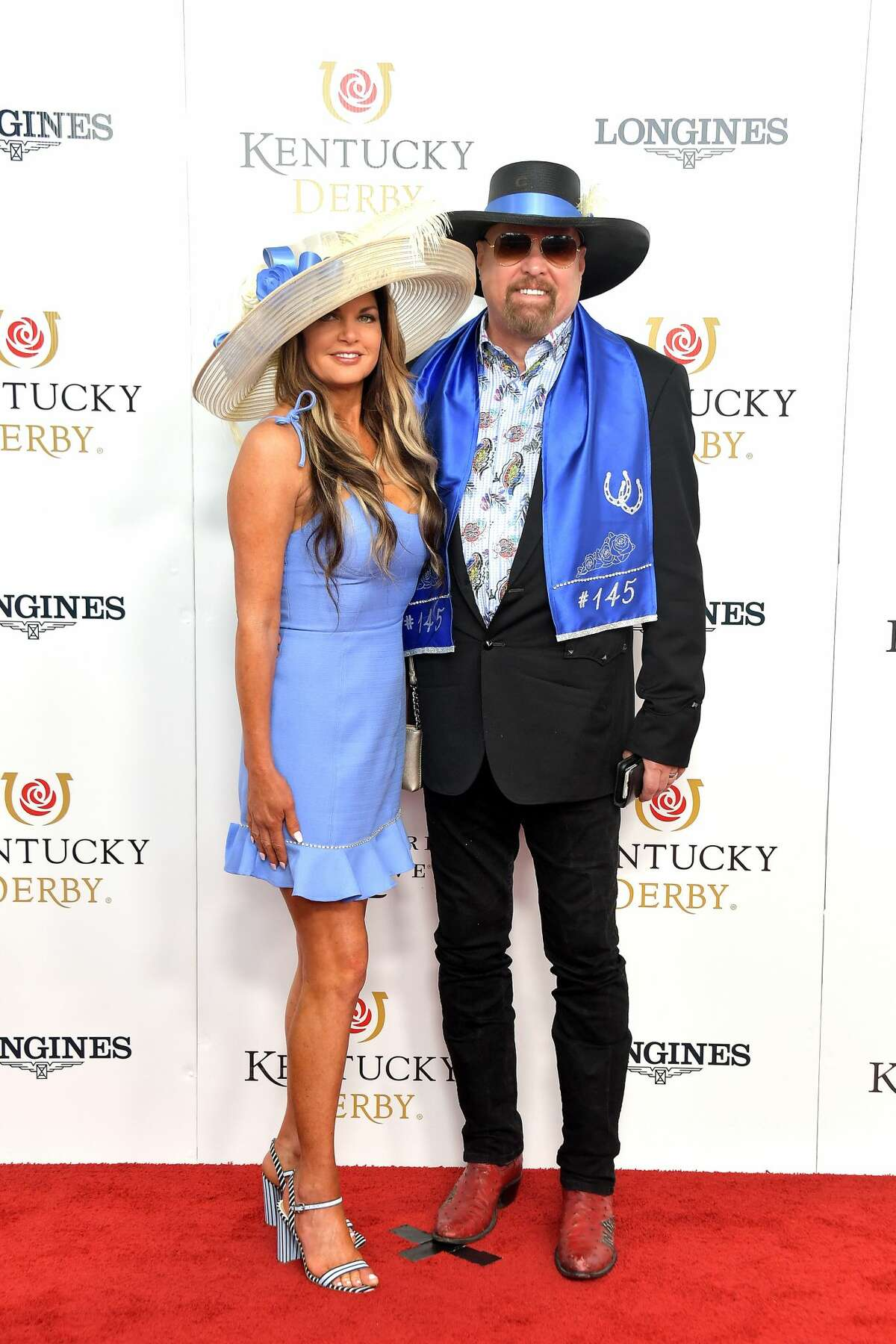 LOUISVILLE, KENTUCKY - MAY 04: Jennifer Montgomery and Eddie Montgomery attend the 145th Kentucky Derby at Churchill Downs on May 04, 2019 in Louisville, Kentucky. (Photo by Michael Loccisano/Getty Images for Churchill Downs)