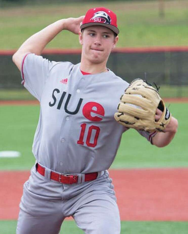 SIUE pitcher Kenny Serwa turned in complete-game Saturday to beat Eastern Illinois University 3-1 at Roy Lee Field. Photo: SIUE Athletics