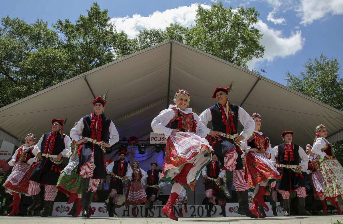 Members of the Wawel Dance Group perform at the 13th annual Houston Polish Festival Saturday, May 4, 2019, in Houston.
