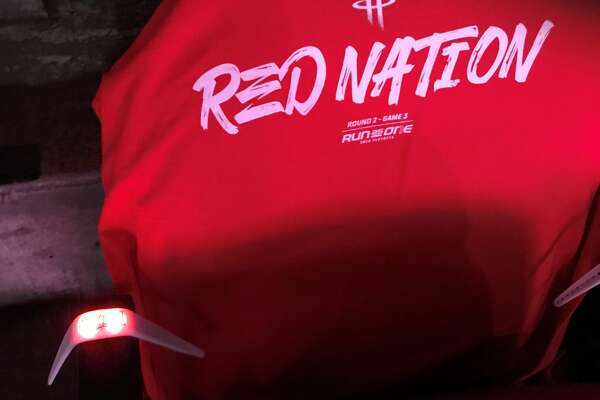 fe5465da Rockets give fans wristbands to light up Toyota Center for Game 3 ...