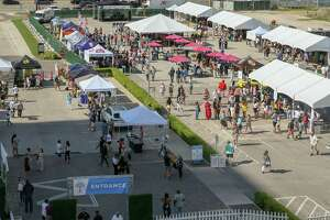 May 4, 2019:  Bird's eye view of the first annual Taste of Memorial City Food & Wine Festival in Houston, Texas.